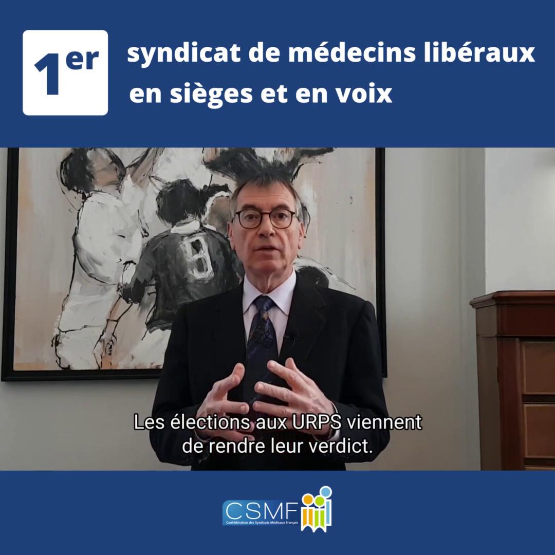 Élections aux URPS  déclaration du président de la CSMF