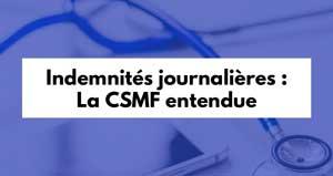 Indemnités journalières : la CSMF entendue