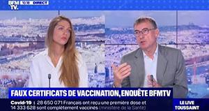 """Faux certificats de vaccination : """"On ne peut qu'être outré par ce type d'attitude."""""""